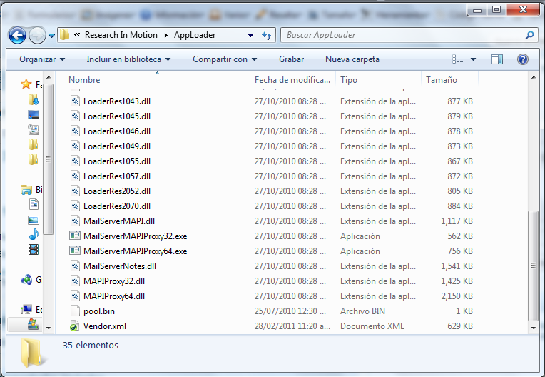 donde esta el archivo vendor.xml en Windows 7