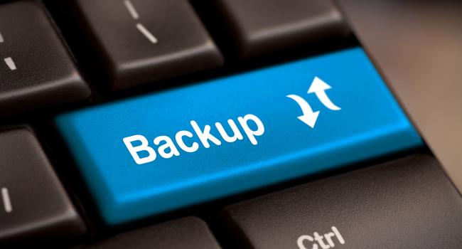 backup información