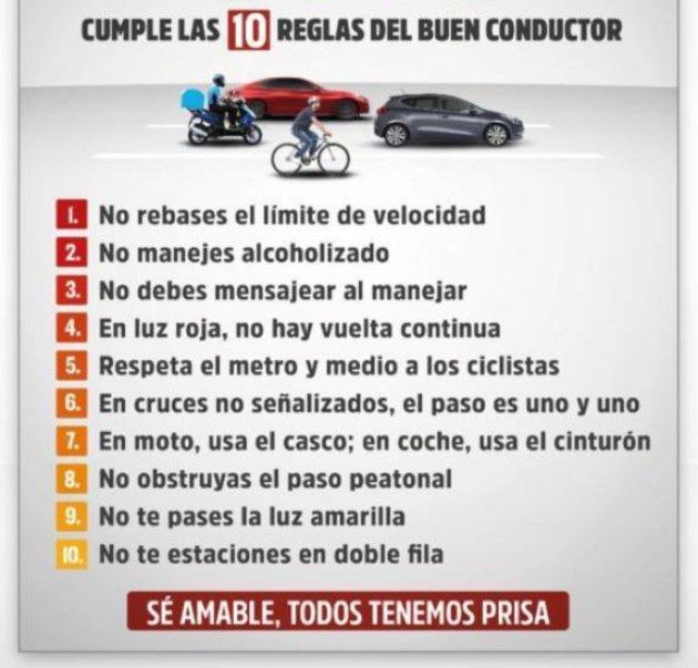 10 reglas del buen conductor