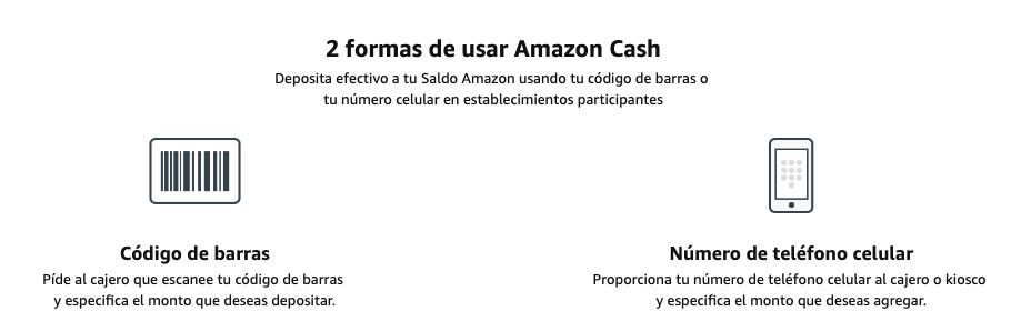 Recargas Amazon Cash