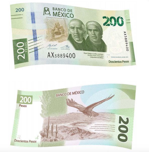 Nuevo billete 200 pesos